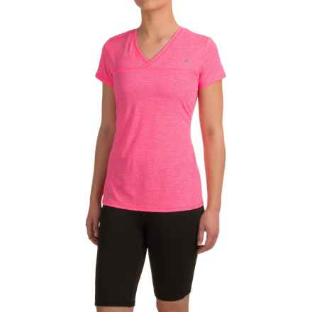 Head High Jump Mesh Shirt - Short Sleeve (For Women) in Knockout Pink Heather - Closeouts