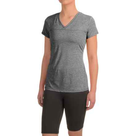 Head High Jump Mesh Shirt - Short Sleeve (For Women) in Medium Grey Heather - Closeouts