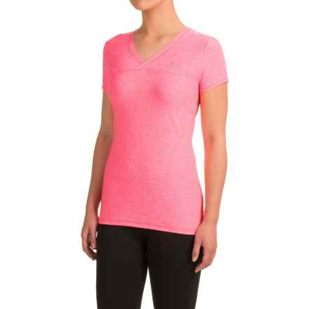 Head High Jump Shirt - Short Sleeve (For Women) in Knockout Pink Heather - Closeouts