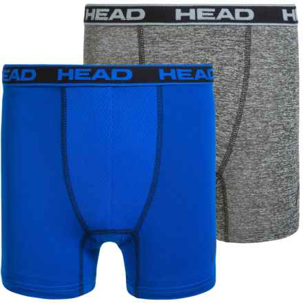 Head High-Performance Boxer Briefs - 2-Pack (For Boys) in Blue/Grey Heather - Closeouts