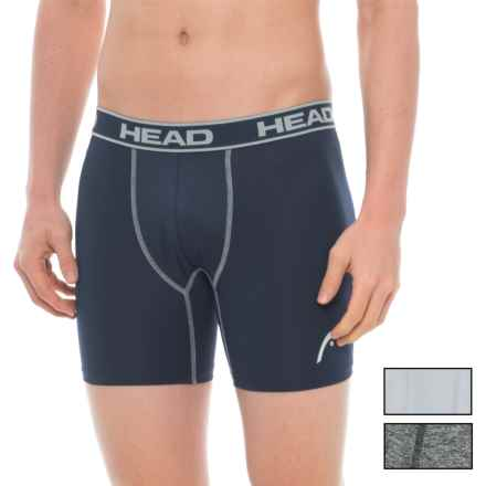 Head High-Performance Boxer Briefs - 3-Pack (For Men) in Blue/Dark Grey Heather/Grey - Closeouts