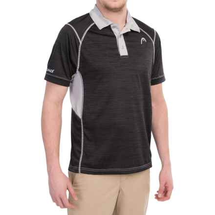 Head Hybrid High-Performance Polo Shirt - Short Sleeve (For Men) in Black Heather - Closeouts