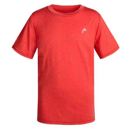 Head Hypertek Crew Shirt - Short Sleeve (For Big Boys) in Flame Scarlet Heather - Closeouts