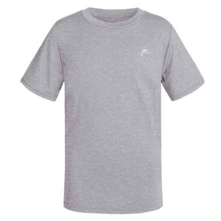 Head Hypertek Crew Shirt - Short Sleeve (For Big Boys) in Grey Heather - Closeouts