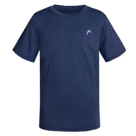 Head Hypertek Crew Shirt - Short Sleeve (For Big Boys) in Medieval Blue Heather - Closeouts