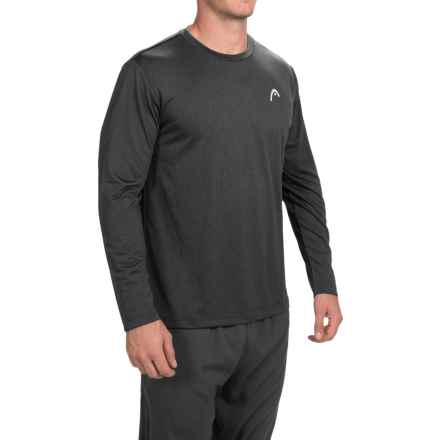 Head Hypertek T-Shirt - Long Sleeve (For Men) in Black Heather - Closeouts