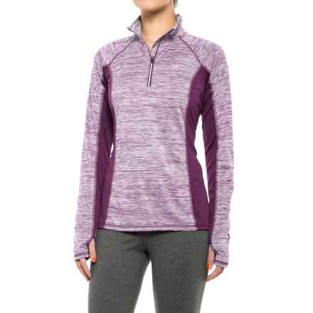 Head Icecap Zip Neck Shirt - Slim Fit, Long Sleeve (For Women) in Dark Purple Heather - Closeouts