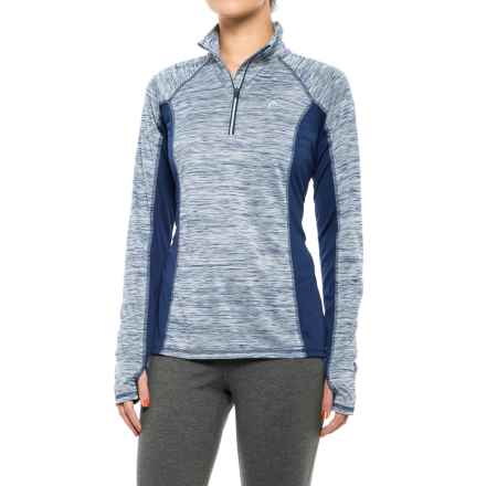 Head Icecap Zip Neck Shirt - Slim Fit, Long Sleeve (For Women) in Medieval Blue Heather - Closeouts