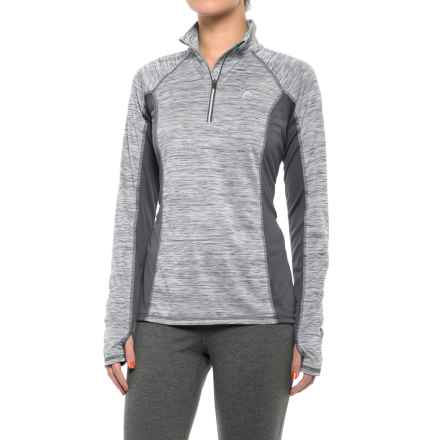 Head Icecap Zip Neck Shirt - Slim Fit, Long Sleeve (For Women) in Medium Grey Heather - Closeouts