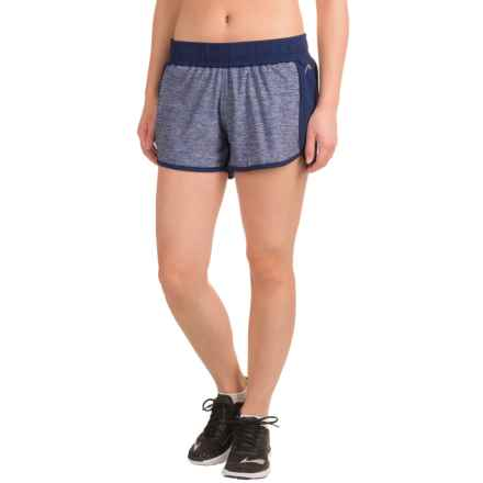 Head Inside Track Shorts - Built-In Briefs, Slim Fit (For Women) in Medieval Blue - Closeouts