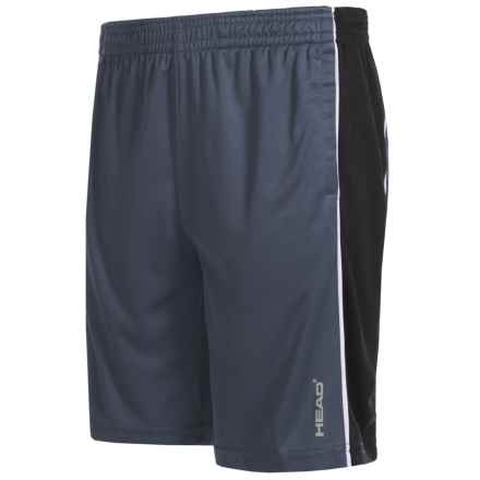 Head Jackpot Active Shorts (For Big Boys) in Cool Grey/Black Heather - Closeouts