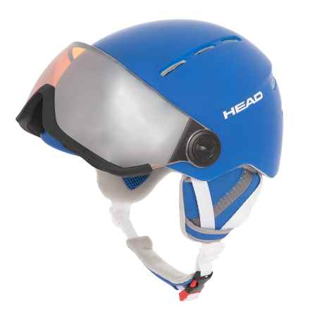 Head Knight Ski Helmet - Integrated Visor in Blue - Closeouts