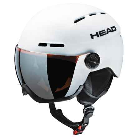 Head Knight Ski Helmet - Integrated Visor in White - Closeouts