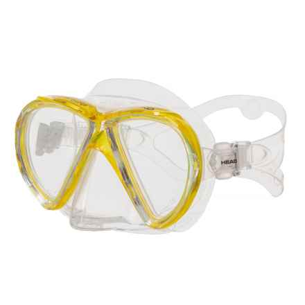Head Marlin Purge Dive Mask (For Men and Women) in Yellow
