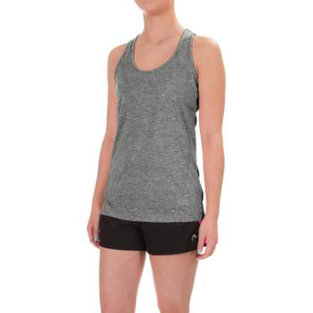 Head Mesh Cycle Tank Top - Racerback (For Women) in Black Heather - Closeouts