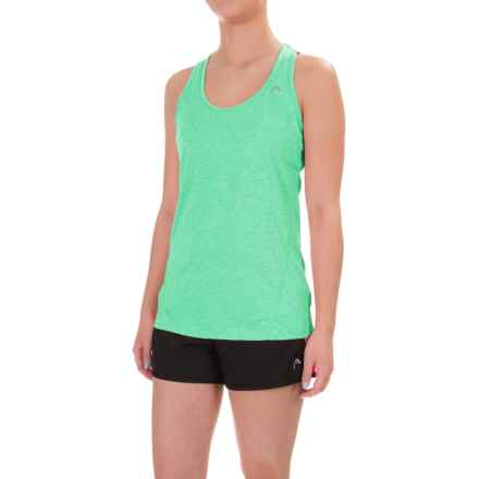 Head Mesh Cycle Tank Top - Racerback (For Women) in Mint Leaf Heather - Closeouts