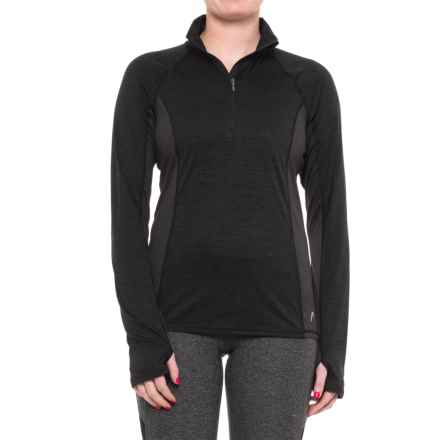 Head Millennial Zip Neck Shirt - Long Sleeve (For Women) in Black Heather - Closeouts
