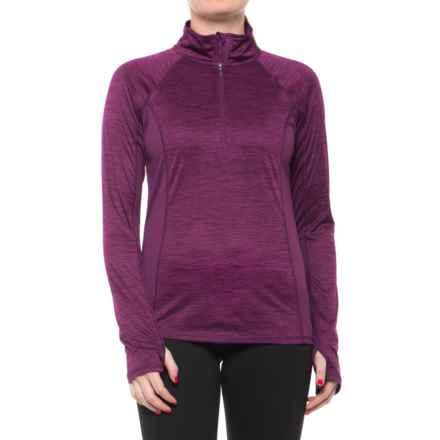 Head Millennial Zip Neck Shirt - Long Sleeve (For Women) in Dark Purple Heather - Closeouts