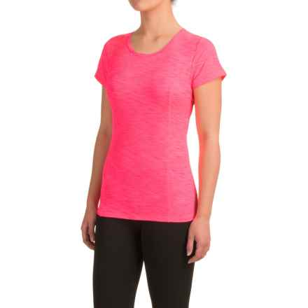 Head Mira Keyhole Shirt - Slim Fit, Short Sleeve (For Women) in Knockout Pink Heather - Closeouts