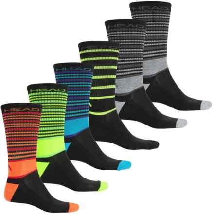Head Multi-Stripe Socks - 6-Pack, Crew (For Men) in Black - Closeouts