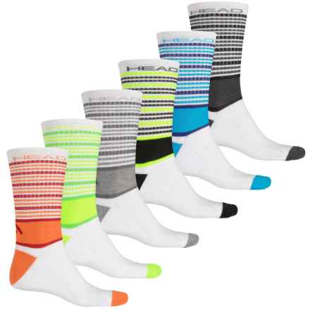 Head Multi-Stripe Socks - 6-Pack, Crew (For Men) in White - Closeouts