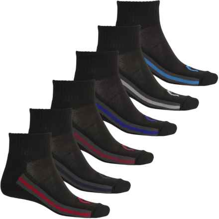 Head Multicolor Tipping Socks - 6-Pack, Quarter Crew (For Men) in Black - Closeouts