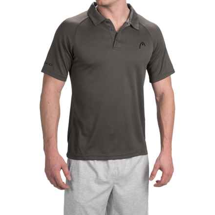 Head Net High-Performance Polo Shirt - Short Sleeve (For Men) in Asphalt - Closeouts