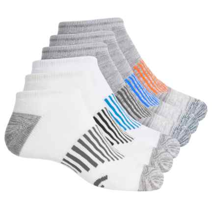 Head No-Show Running Socks - 6-Pack, Below the Ankle (For Men) in Gray Multi - Closeouts