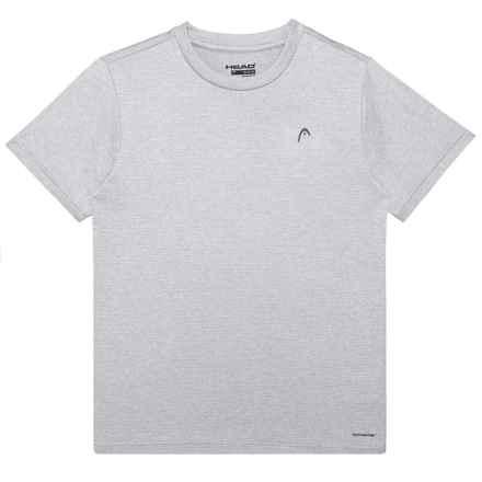 Head Olympus Hypertek® Crew T-Shirt - Short Sleeve (For Big Boys) in Sleet Heather - Closeouts