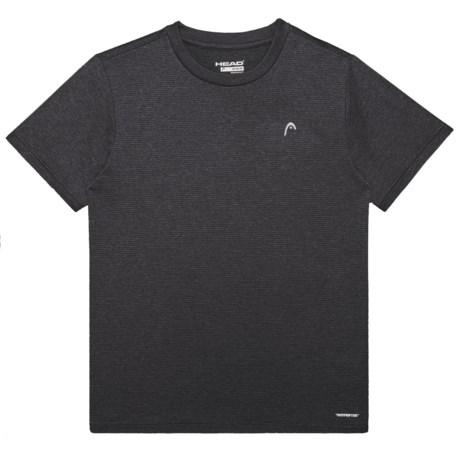 Head Olympus Hypertek® T-Shirt - Crew Neck, Short Sleeve (For Big Boys) in Black Heather
