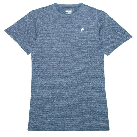 Head Olympus Hypertek® T-Shirt - Crew Neck, Short Sleeve (For Big Boys) in Cool Grey Heather