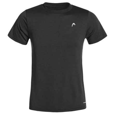 Head Olympus Hypertek® T-Shirt - Short Sleeve (For Big Boys) in Black Heather - Closeouts