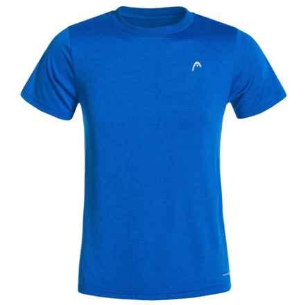 Head Olympus Hypertek® T-Shirt - Short Sleeve (For Big Boys) in Vital Blue Heather - Closeouts