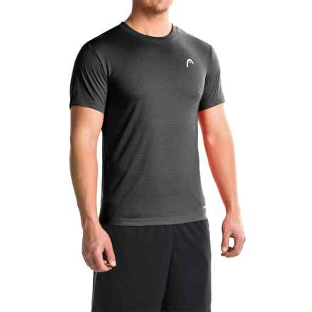 Head Olympus T-Shirt - Short Sleeve (For Men) in Black Heather - Closeouts