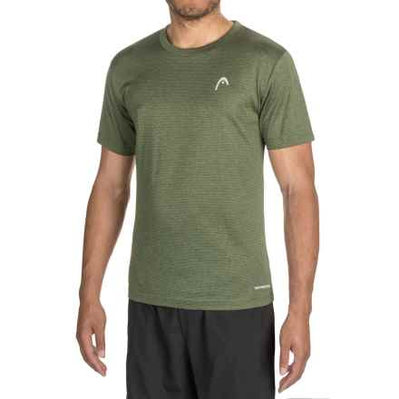 Head Olympus T-Shirt - Short Sleeve (For Men) in Rifle Green Heather - Closeouts
