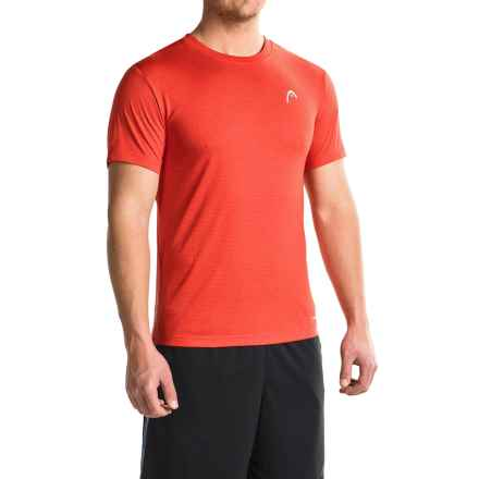 Head Olympus T-Shirt - Short Sleeve (For Men) in Tomato Heather - Closeouts