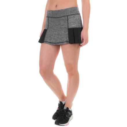 Head Pleated Marled Skort (For Women) in Black Heather - Closeouts
