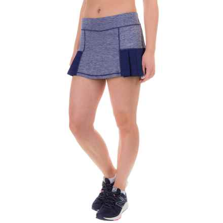 Head Pleated Marled Skort (For Women) in Medieval Blue Heather - Closeouts