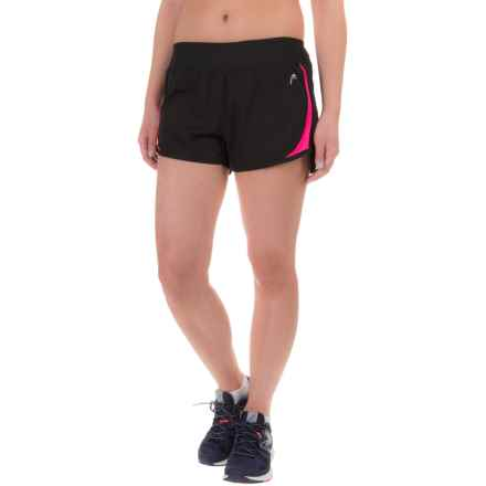 Head Power Shorts - Built-In Briefs (For Women) in Black/Knockout Pink - Closeouts