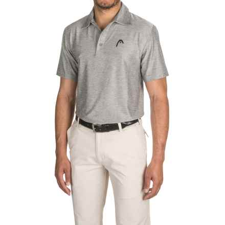 Head Protocol Dri-Motion® Polo Shirt - Short Sleeve (For Men) in Grey Heather - Closeouts