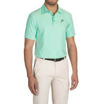 Head Protocol Dri-Motion® Polo Shirt - Short Sleeve (For Men) in Mint Heather - Closeouts
