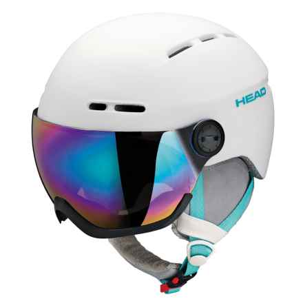 Head Queen Ski Helmet - Integrated Visor (For Women) in White - Closeouts