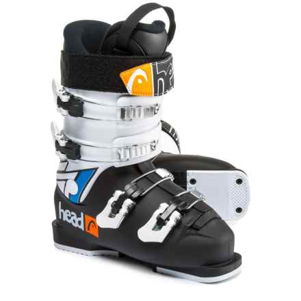 Head Raptor Caddy 50 Junior Ski Boots (For Little and Big Kids) in Black/White - Closeouts