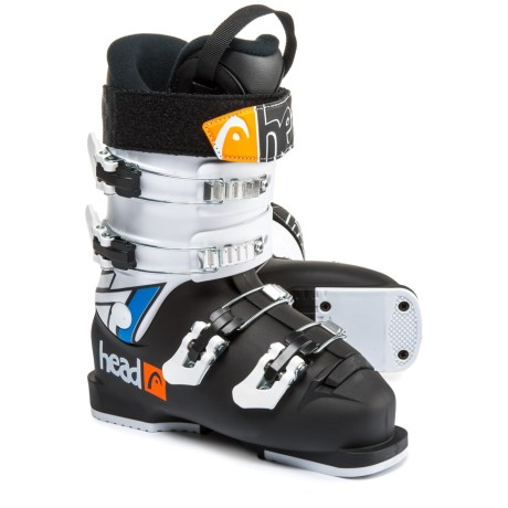 Head Raptor Caddy 50 Junior Ski Boots (For Little and Big Kids) in Black/White