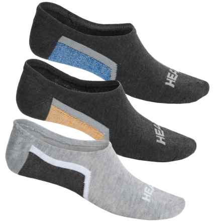 Head Sneaker Socks - 3-Pack, Below the Ankle (For Men) in Gray Multi - Closeouts