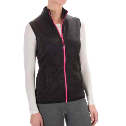 Head Snow Leopard Sweater-Knit Vest (For Women) in Black Heather - Closeouts