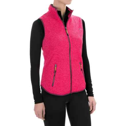 Head Snow Leopard Sweater-Knit Vest (For Women) in Bright Rose Heather - Closeouts