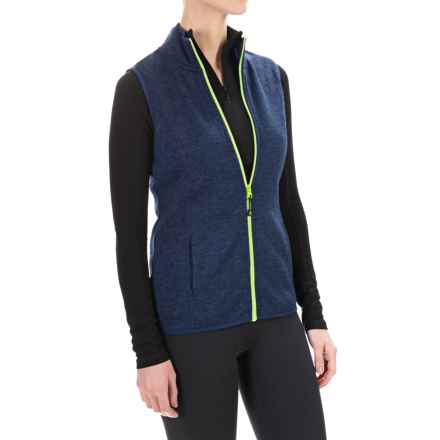 Head Snow Leopard Sweater-Knit Vest (For Women) in Medieval Blue Heather - Closeouts