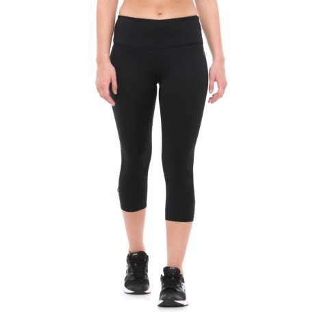 Head Solid Crisscross Capris (For Women) in Black