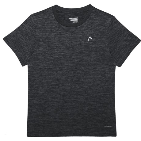 Head Space-Dye Hypertek® T-Shirt - Crew Neck, Short Sleeve (For Big Boys) in Black Heather
